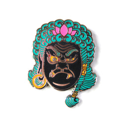 Fudō Myō-ō COLOR VARIANT Hard Enamel Pin Collab with Tattooer Brian MacNeil