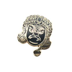 Fudō Myō-ō BLACK & GOLD VARIANT Hard Enamel Pin Collab with Tattooer Brian MacNeil