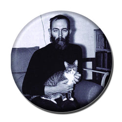 Edward Gorey Holding a Cat 1.75