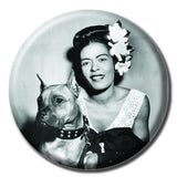 "Billie Holiday Holding a Dog 1.75"" Pinback Button"
