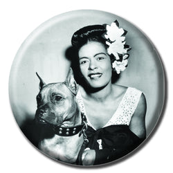 Billie Holiday Holding a Dog 1.75
