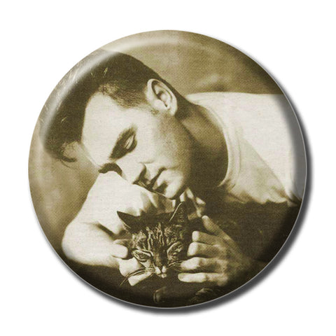 "Morrissey Holding a Cat 1.75"" Pinback Button"
