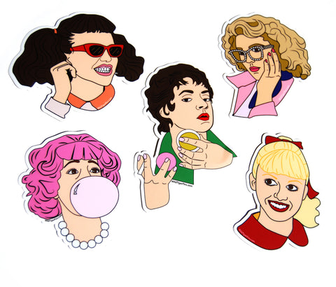 Pink Ladies Stickers