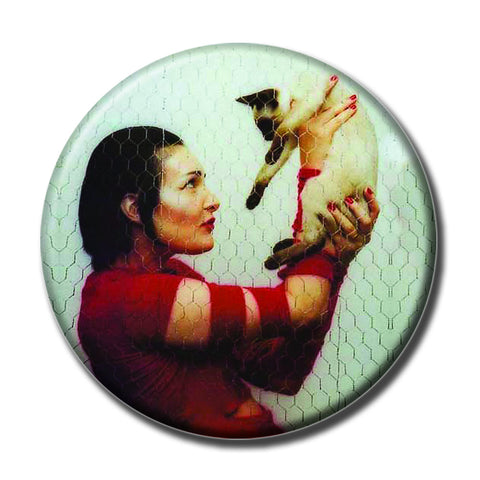 "Siouxsie Sioux Holding a Cat 1.75"" Pinback Button"