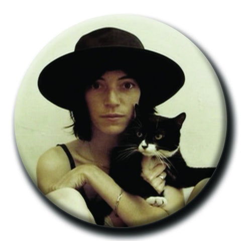 "Patti Smith Holding a Cat 1.75"" Pinback Button"