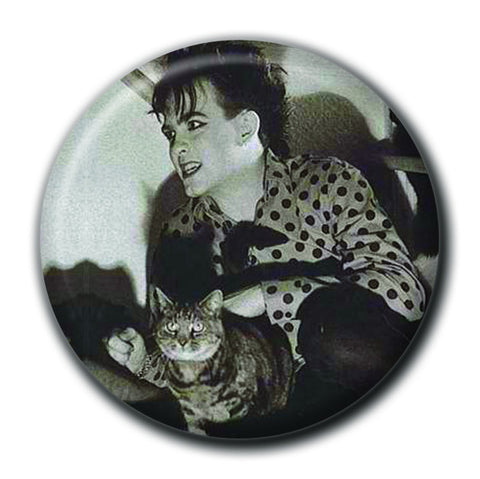 "Robert Smith Holding a Cat 1.75"" Pinback Button"