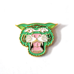 Wacky Tiger Enamel Pin