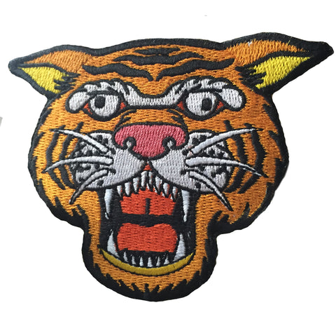 Wacky Tiger Iron-on Patch