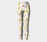 Kitschy White Christmas Yoga Leggings
