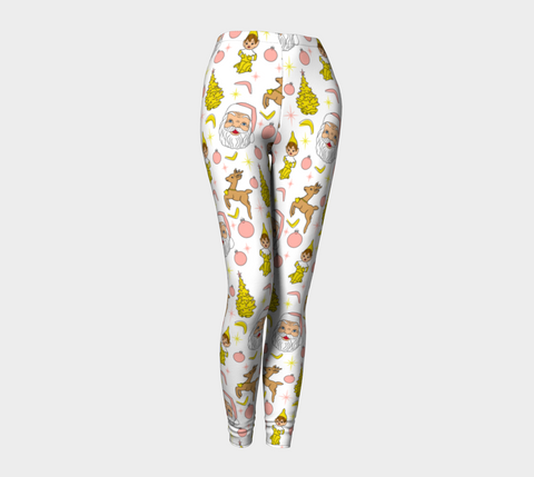 Kitschy White Christmas Adult Leggings