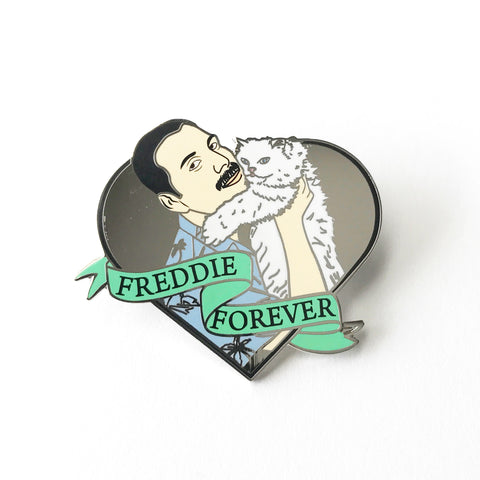 Freddie Forever with Cat Hard Enamel Pin