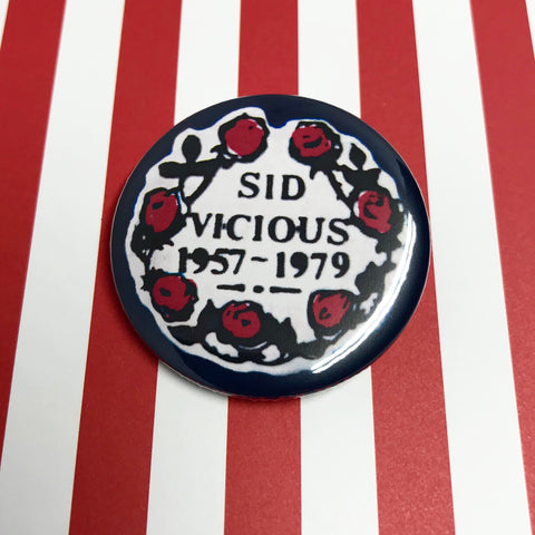 "Sid Vicious 1.75"" Pinback Button"