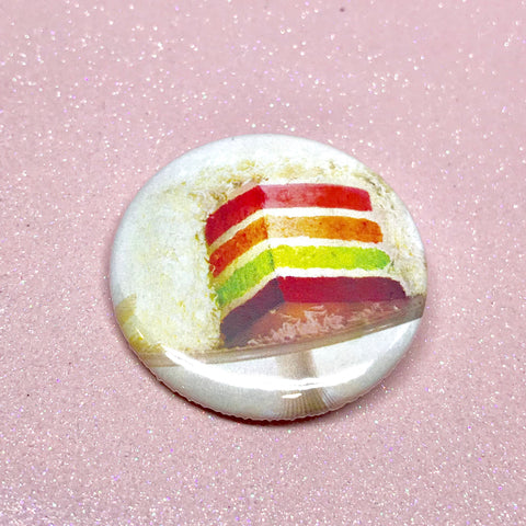 "Rainbow Cake 1.75"" Pinback Button"