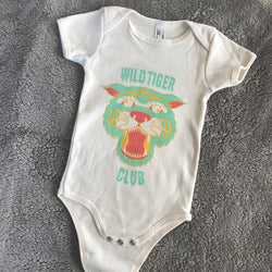 Wild Tiger Club Onesie in Mint