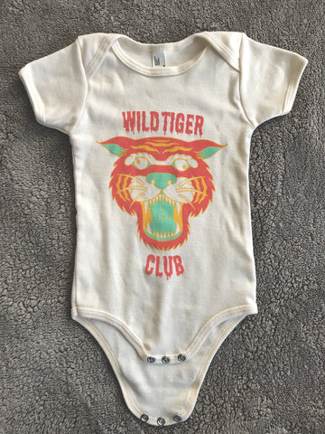 Wild Tiger Club Onesie in Coral