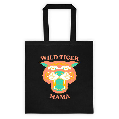 Wild Tiger Mama Tote bag