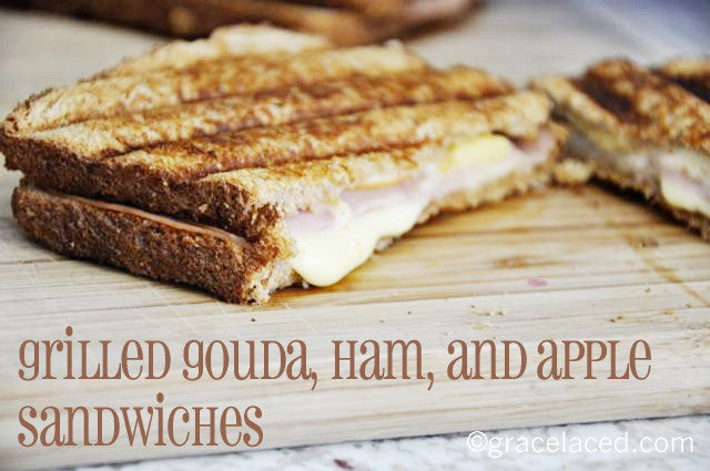 Grilled Gouda, Ham, and Apple Sandwiches