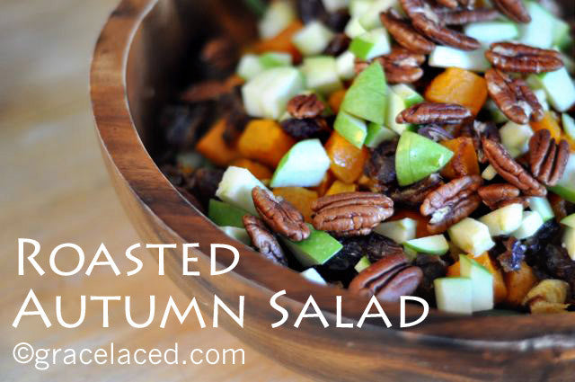 Roasted Autumn Salad {Inspired by California Pizza Kitchen}