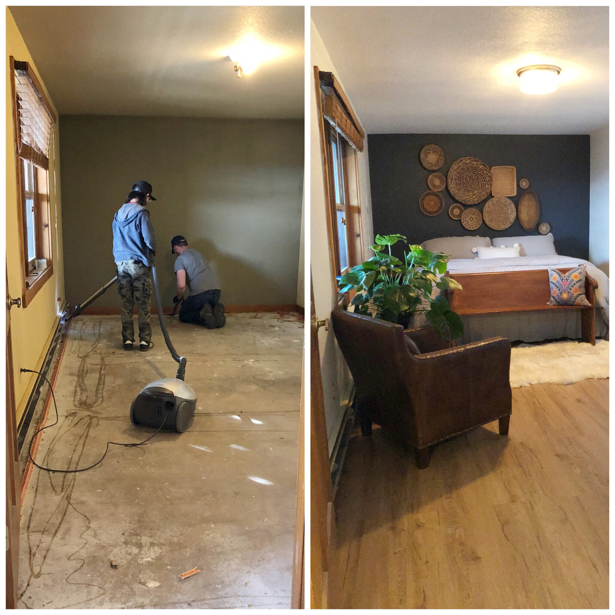 Simons Elk Creek Ranch: Guest Room/Bathroom Before and After