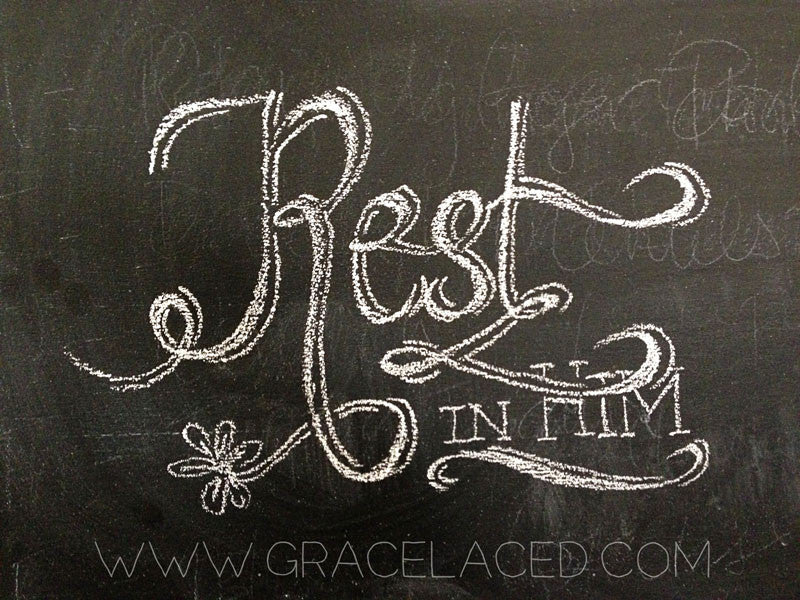 Rest In Him {Drawing Close, Day 13}