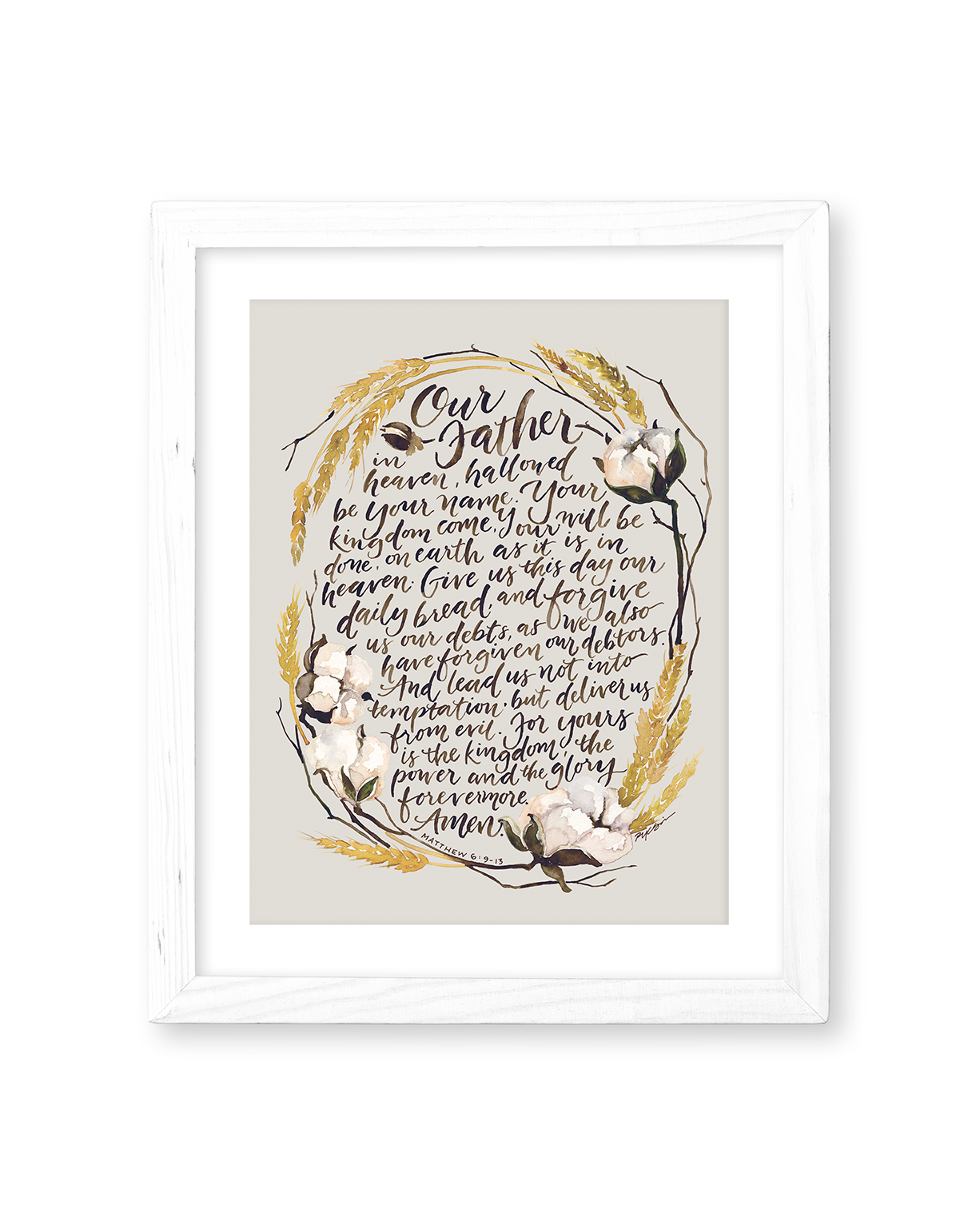 the lord u0027s prayer print gracelaced