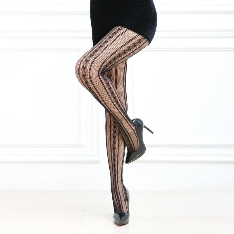 Sexy trendy Black Open Mesh Fishnet Arrow Pattern Pantyhose Canada