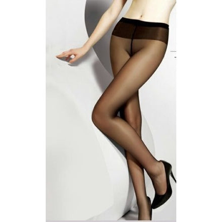 20 Denier Black Sheer to Waist Support Sheer Pantyhose Stockings