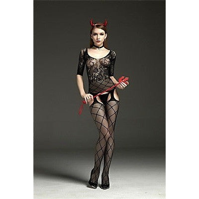 Sexy Fishnet Bodystocking Lingerie Costume Sleepwear Lace - AURABLEND