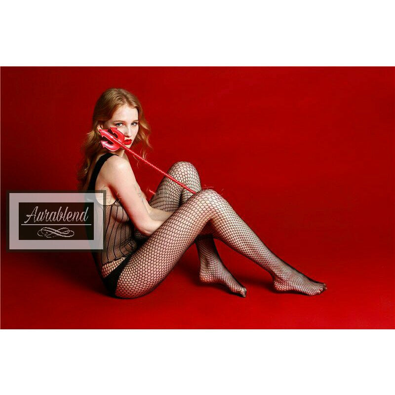 Sexy Fishnet Lace Bodystocking Lingerie Costume Bodysuit Sleepwear - AURABLEND