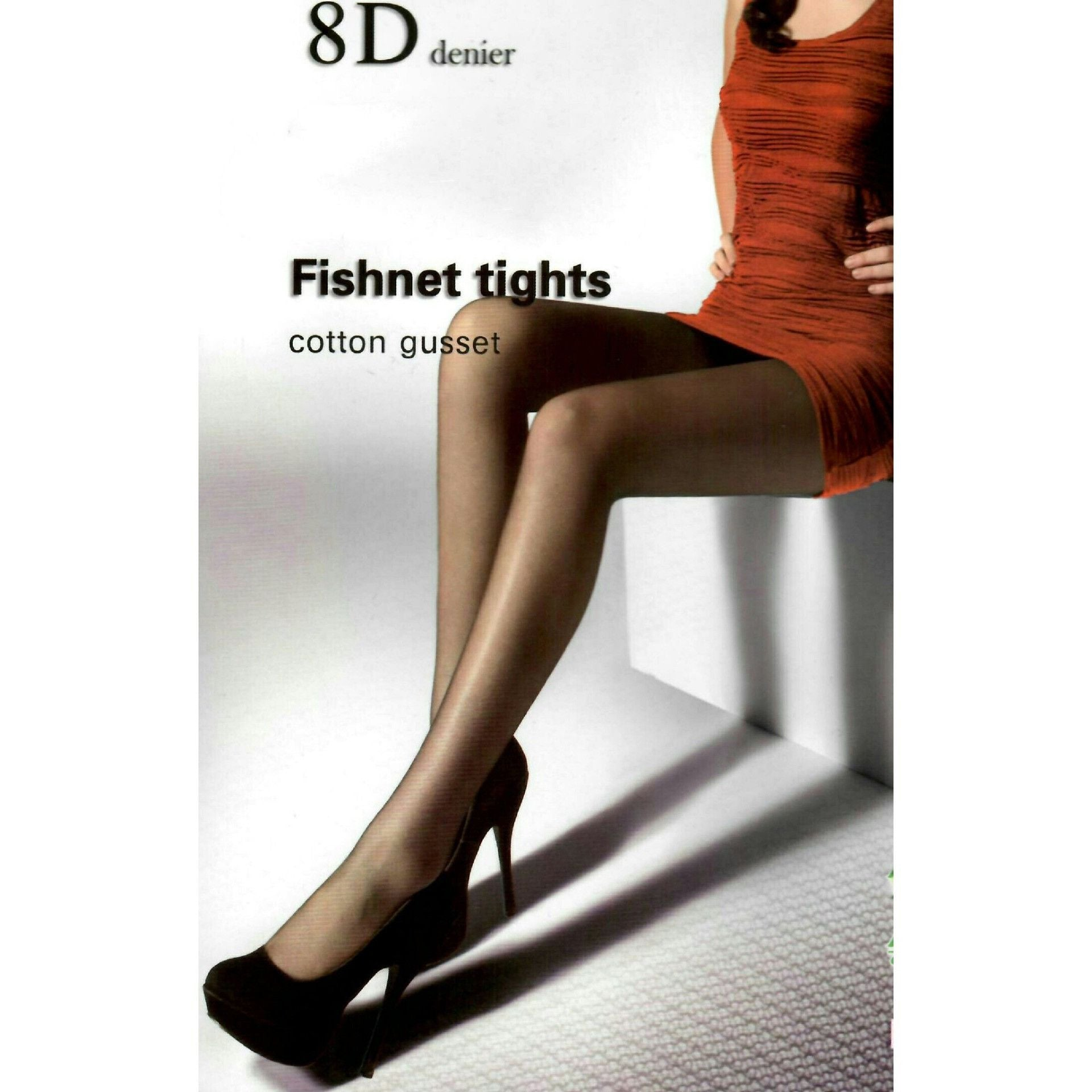 8D Micro-Fishnet Pattern cotton gusset Pantyhose