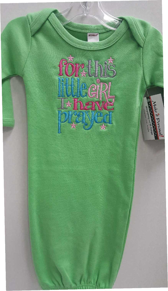 Green Baby Gown-For this Girl