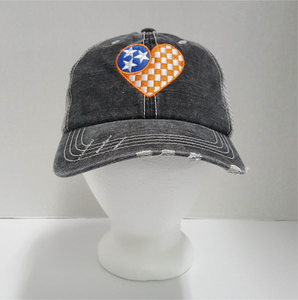 Checkerboard Tennessee Heart State Cap