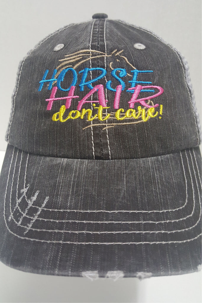Horse Hair Don't Care Cap