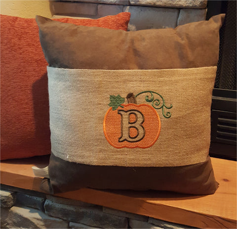 Burlap Pumpkin Pillow Wrap