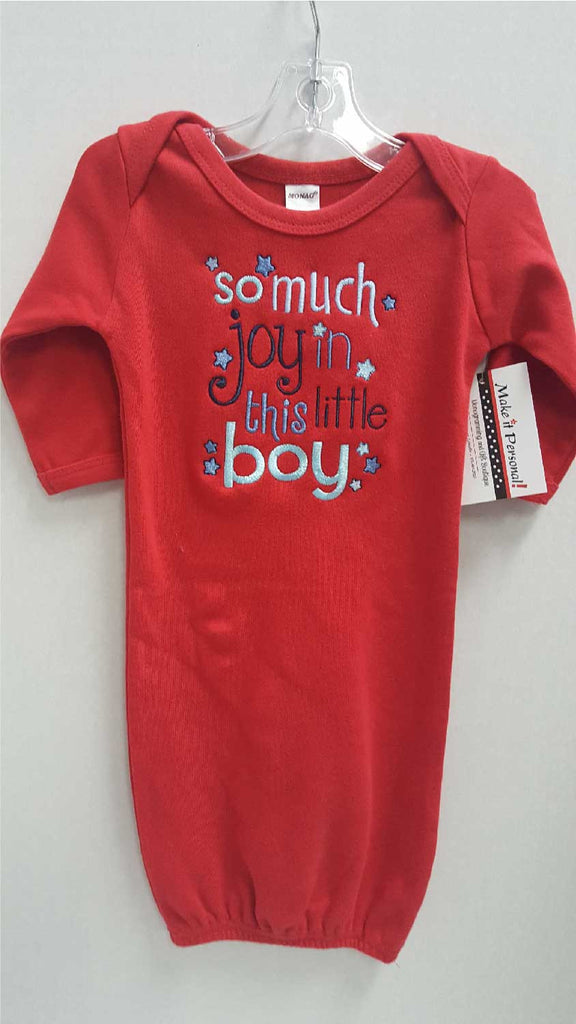 5ac7da2ca2a Red Baby Gown - So much joy in this little boy – Make it Personal ...