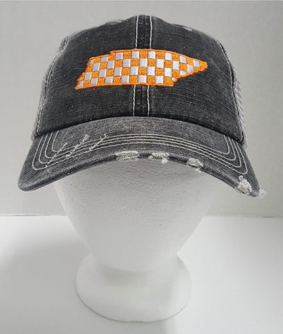 Checkerboard Tennessee State Cap