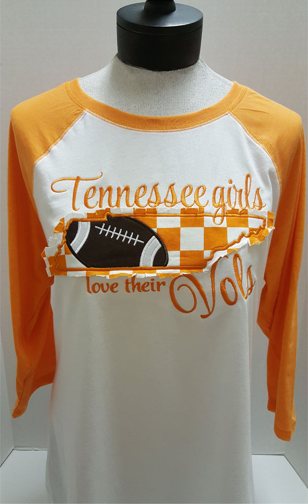 Tennessee Girls love their Vols Applique Tee