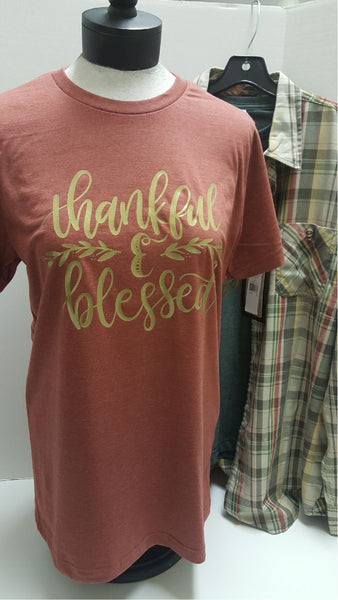 Thankful and Blessed Short Sleeve Tee