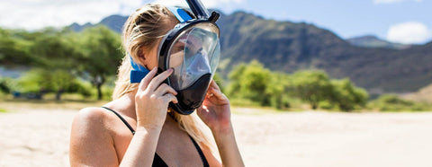 taking care of a full face snorkel