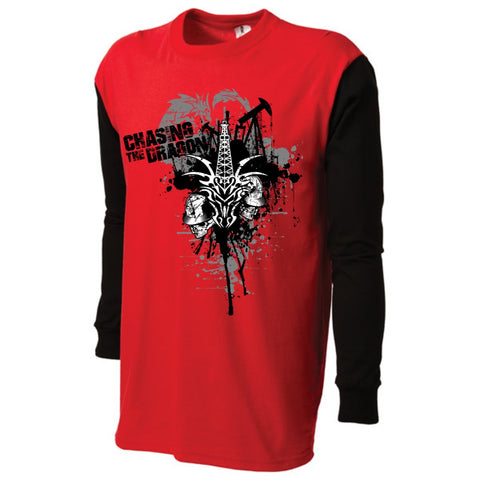 CTD OILFIELD DRAGONS 2-TONED LONG SLEEVE TEES