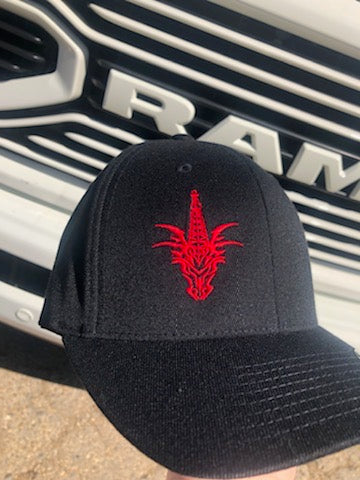 CTD BLK/RED FLEX FIT HAT