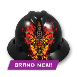 "MSA V-Gard® Hard Hat with ""Fire-Breathing Dragon"" Decals"