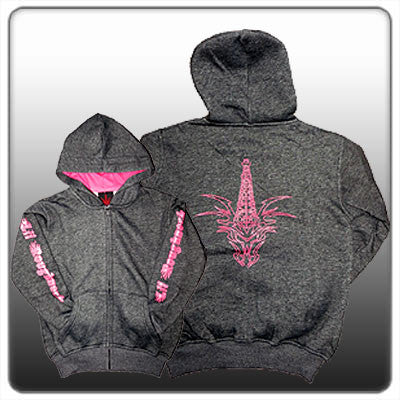 CTD ''Lil Roughneck'' CHARCOAL GIRLS ZIP UP