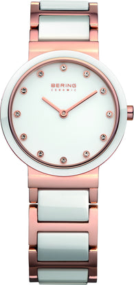 BERING CERAMIC WHITE AND ROSE GOLD 10725-766