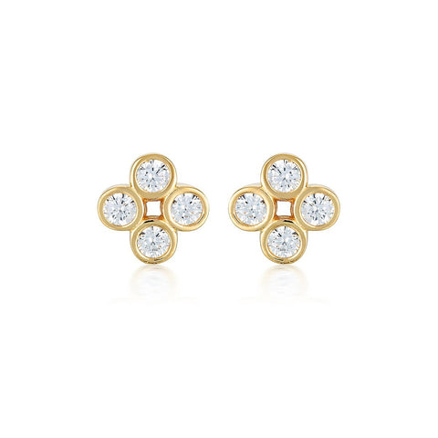 STELLAR LIGHTS GOLD TWINKLE STUDS