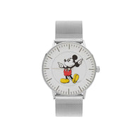 Disney Formal Mickey Silver Mesh Watch 40mm