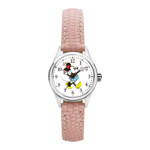 Disney Petite Minnie Croco Pink Watch 25mm