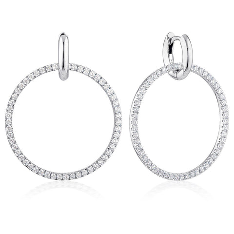 Julietta Round Drop Earrings