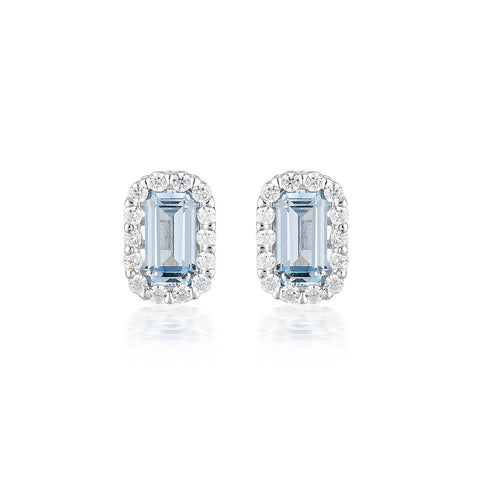 PARIS AQUAMARINE STUDS