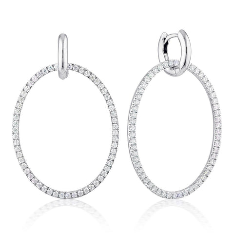 Julietta Oval Drop Earrings